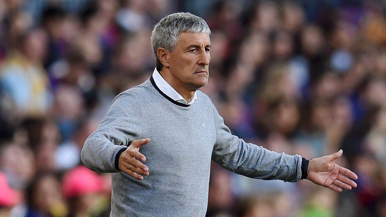 Real Betis manager Quique Setien