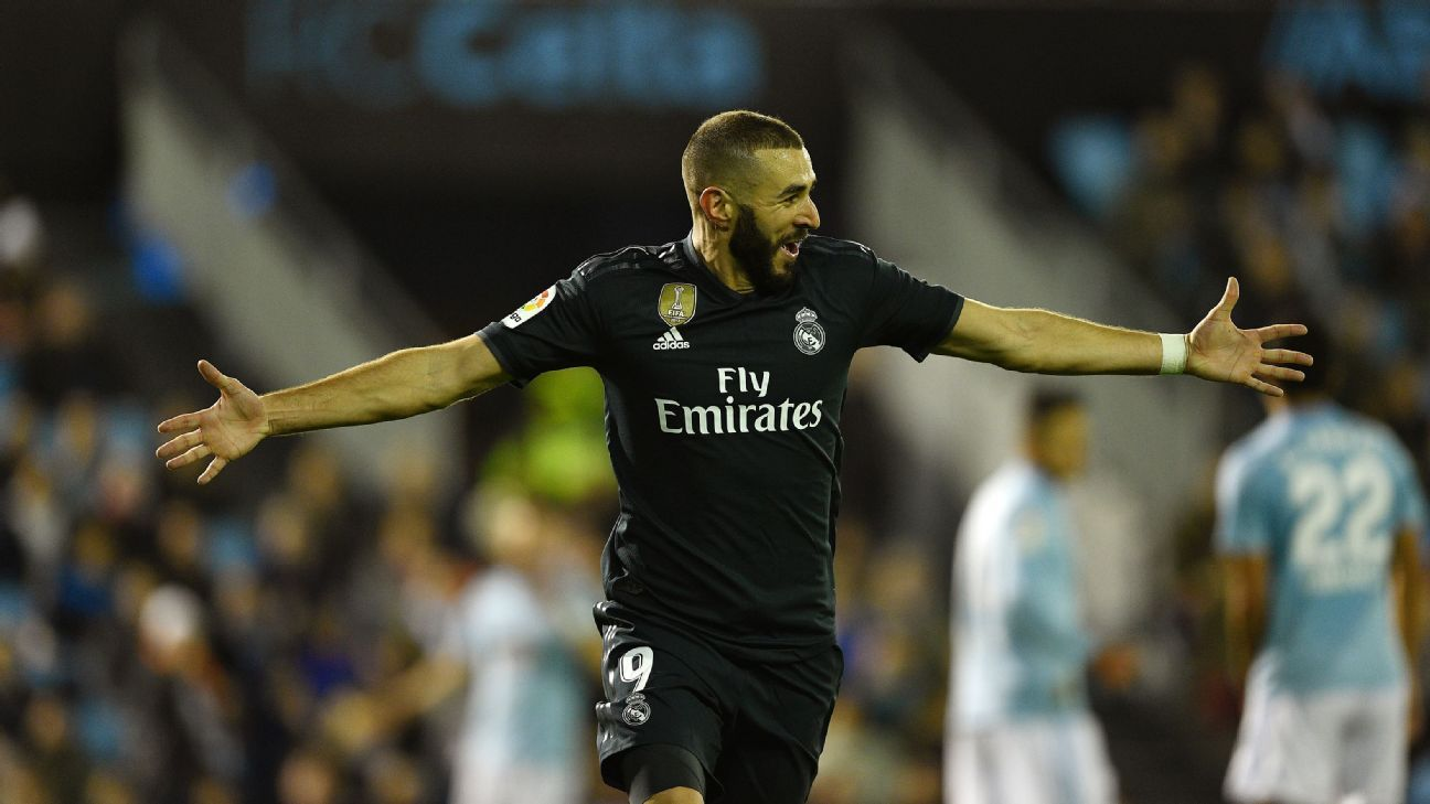 After two goals vs. Viktoria Plzen in midweek, Karim Benzema added another vs. Celta Vigo.