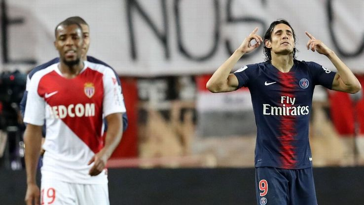 Edinson Cavani was the man of the match as the PSG star bagged a hat trick vs. Monaco.