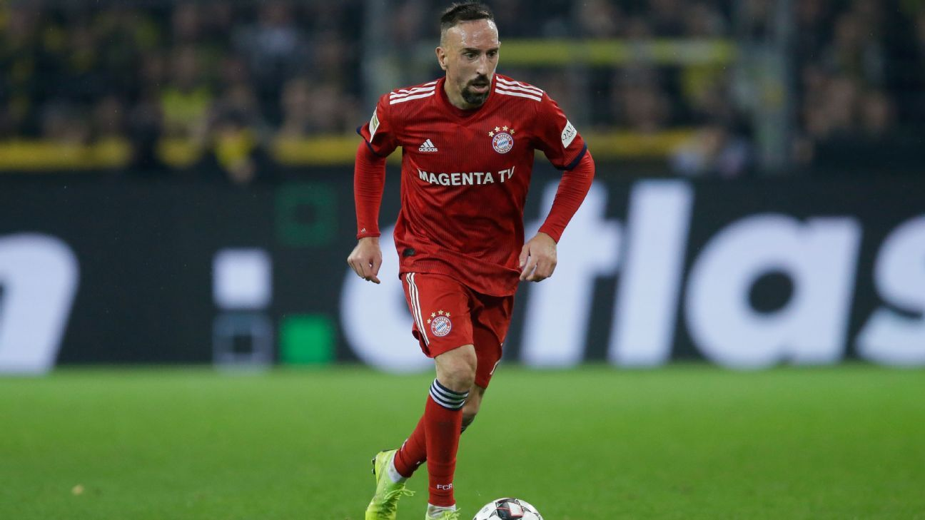 Franck Ribery in action against Borussia Dortmund.
