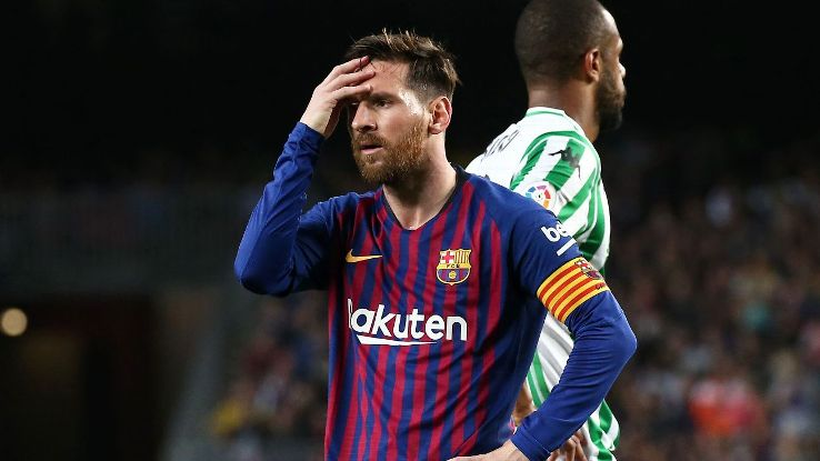Lionel Messi and Barcelona were exposed by Real Betis, who masterfully out-matched the title favourites in midfield.