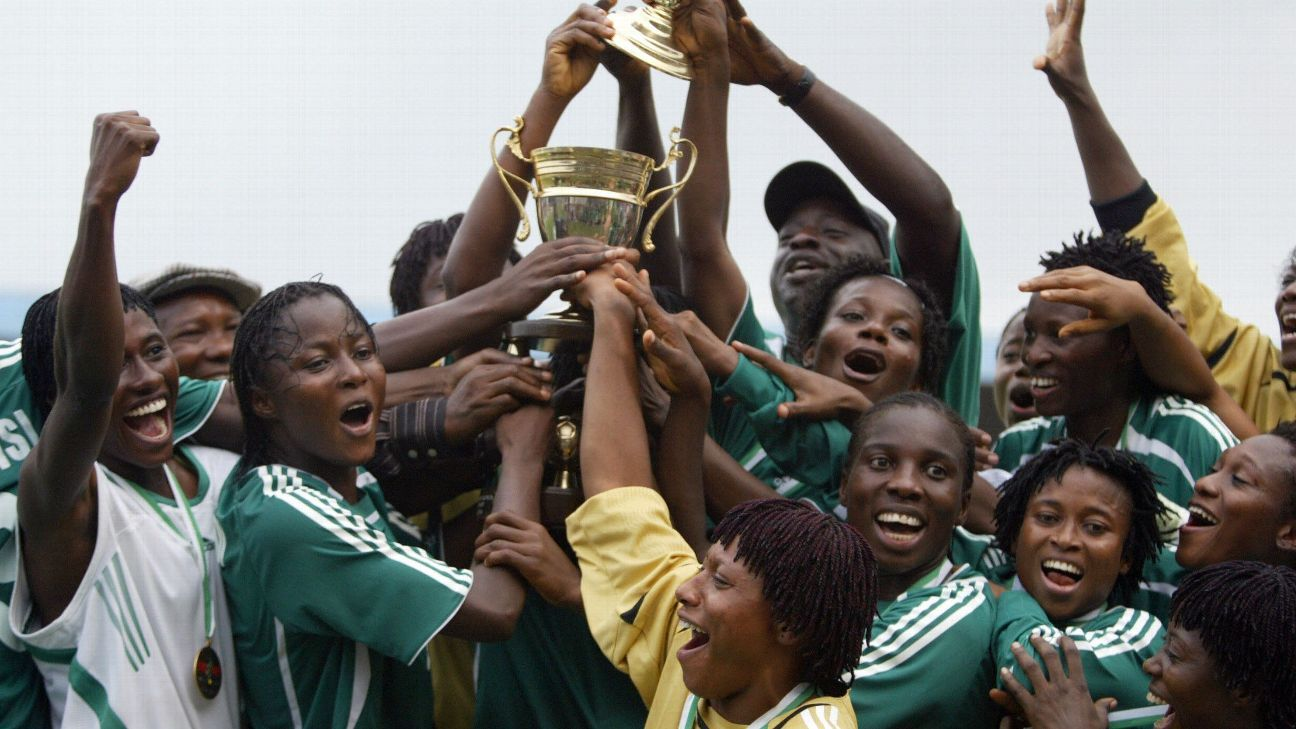 The Super Falcons won the African Women's Championship, now the Africa Women Cup of Nations, in 2006, one of 10 continental titles they've won. They need to finish in the top three in Ghana this month to qualify for the World Cup next year.