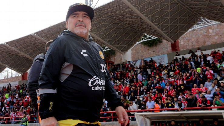 Dorados coach Diego Maradona