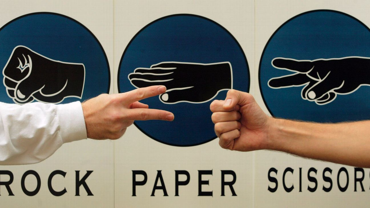 Rock, Paper, Scissors was used instead of the traditional coin toss