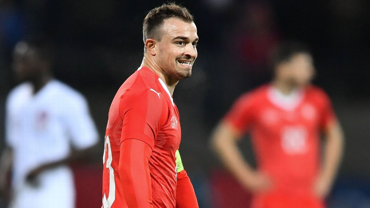 Xherdan Shaqiri captained Switzerland as they lost a home international friendly to Qatar