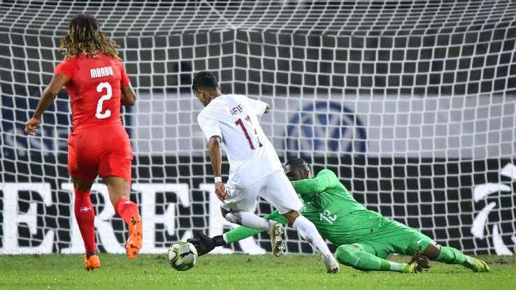 Akram Afif scores Qatar's winner against Switzerland