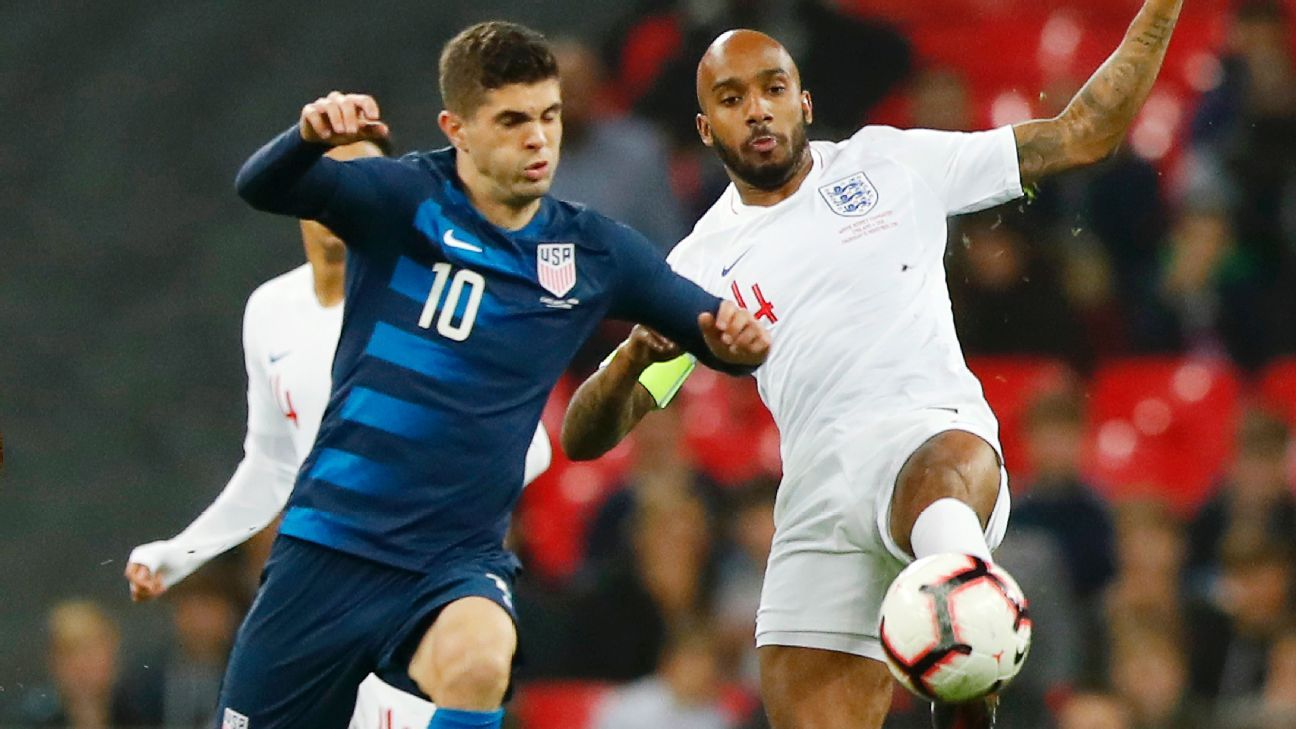 Christian Pulisic played for the U.S. for just the second time this year in the side's 3-0 defeat to England.