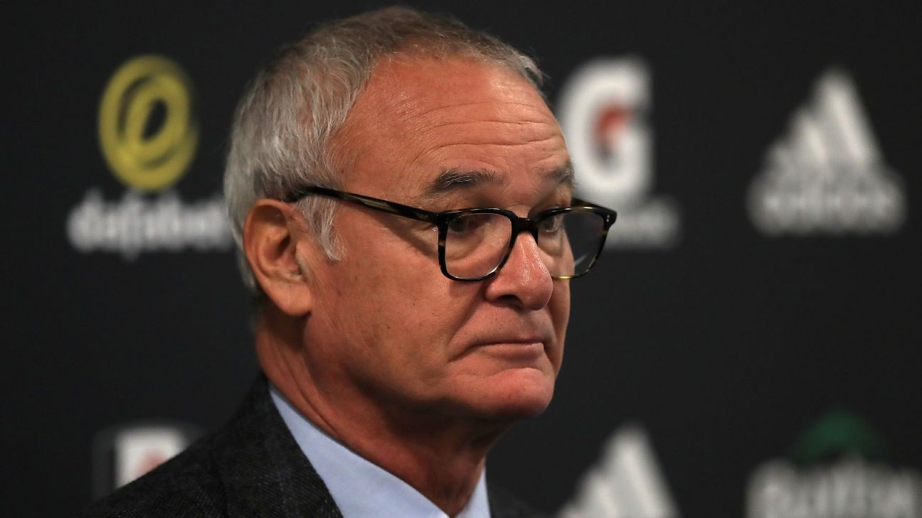 Claudio Ranieri talks to reporters after being appointed as Fulham manager.
