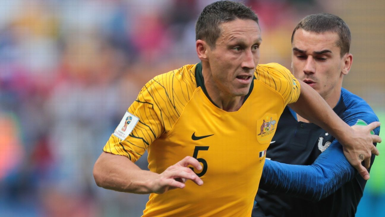 Mark Milligan will lead Australia as new captain into the 2019 Asian Cup.