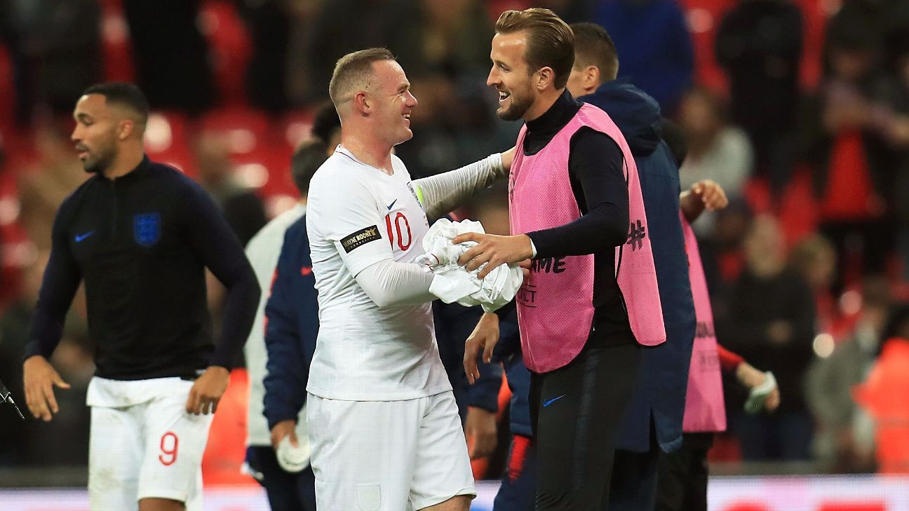 Wayne Rooney tipped Harry Kane to break his goals record for England.