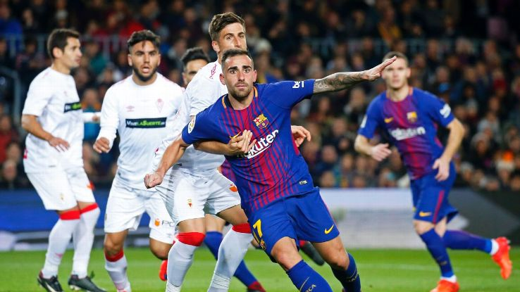 Paco Alcacer during the Copa del Rey match between FC Barcelona v Real Murcia CF