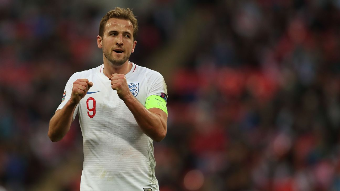 Harry Kane scored his 20th England goal during the UEFA Nations League win against Croatia.