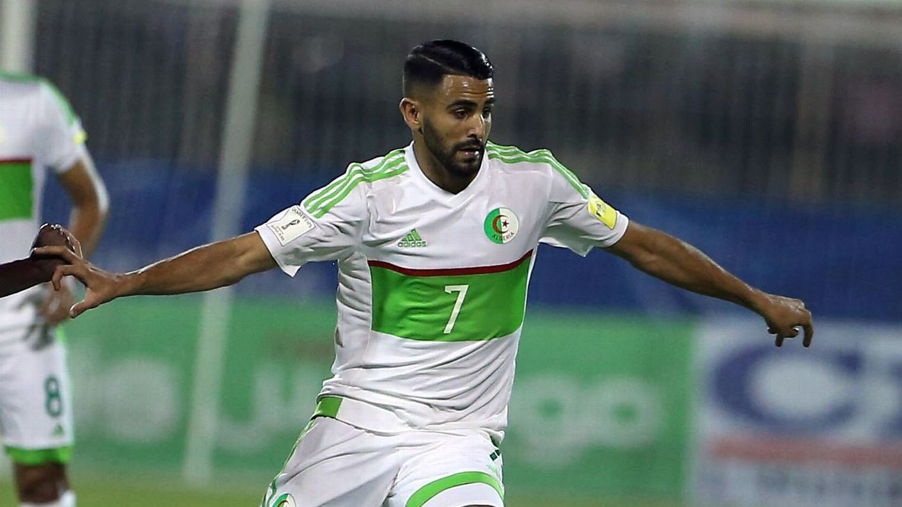 Riyad Mahrez scored a double as Algeria beat Togo to qualify for the 2019 Africa Cup of Nations