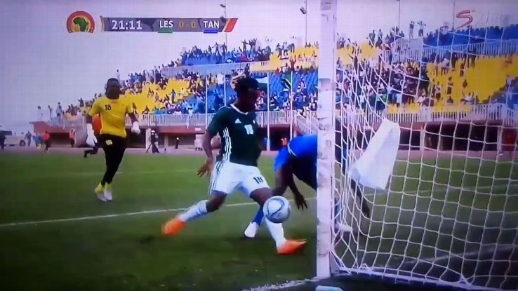 Lesotho forward Tumelo Khutlang's shocking miss vs Tanzania has to be seen to be believed