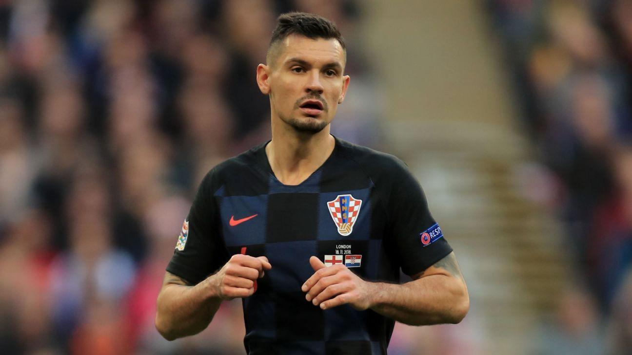Croatia defender Dejan Lovren in action against England