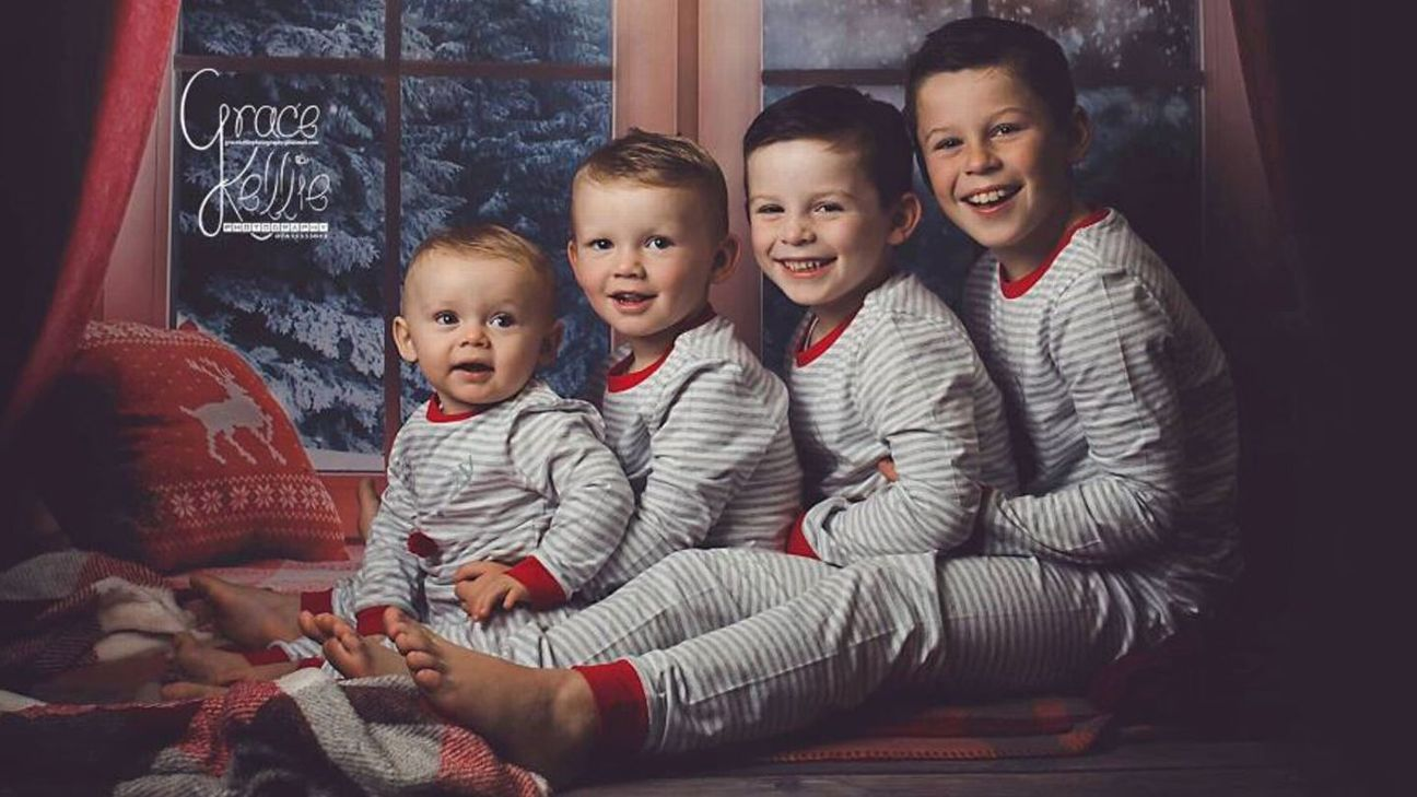 Cass, Kit, Klay and Kai Rooney will star in the family's Christmas cards