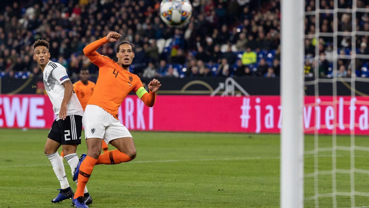 Virgil van Dijk scores volley against Germany