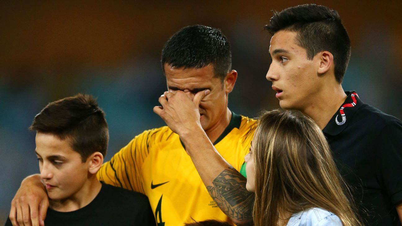 Tim Cahill shed tears after his farewell appearance for Australia
