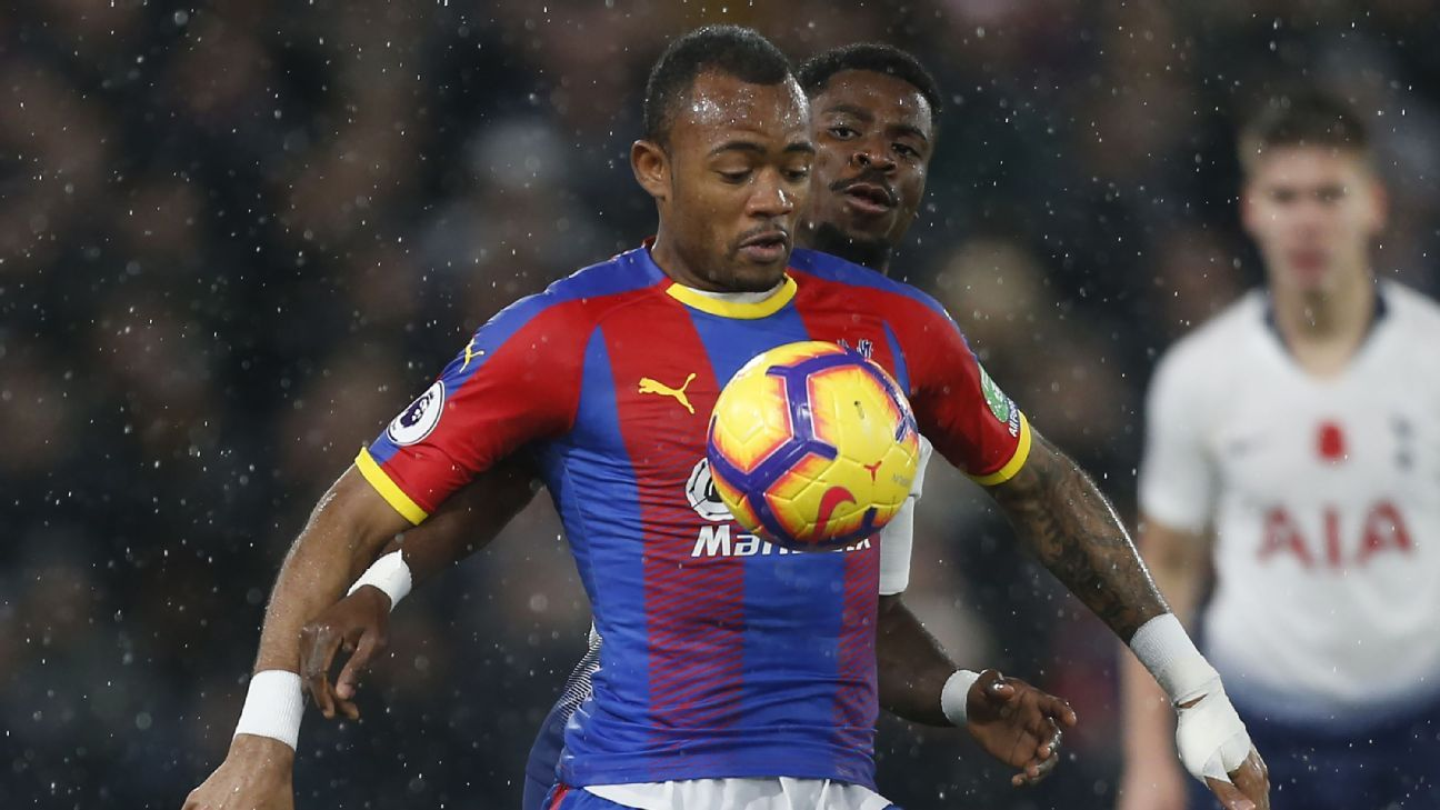 Ghana's Jordan Ayew has had a slow start to life at Selhurst Park, failing to score this season to date.