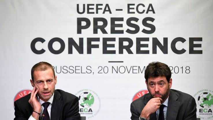 UEFA president Aleksander Ceferin and ECA president Andrea Agnelli covered a wide range of topics in Tuesday's joint news conference.