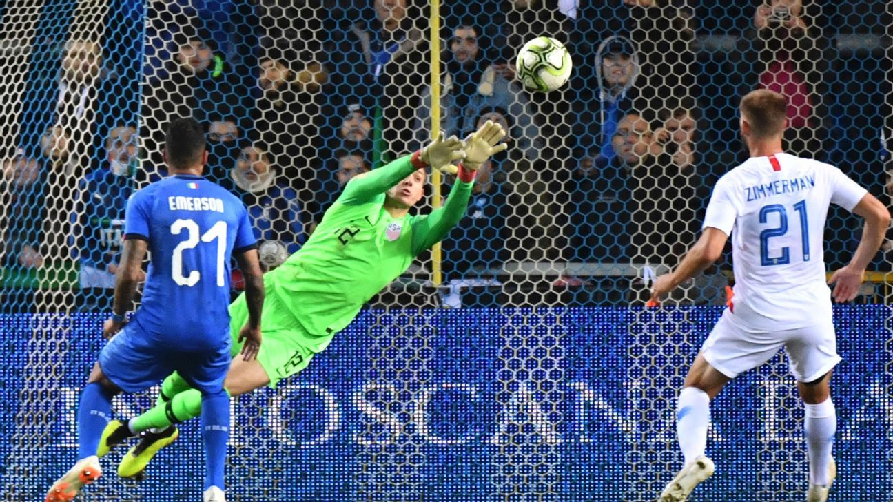 Ethan Horvath was brilliant against Italy, making five big saves and a claim that he should start over recent No. 1 Zack Steffen.