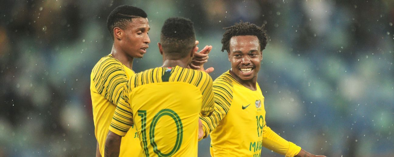 Goalscorer Percy Tau and his Bafana Bafana teammates had to show fighting spirit to secure a 1-1 draw against Paraguay in the Nelson Mandela Challenge