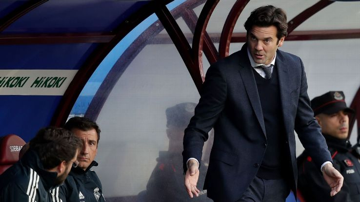 Santiago Solari's first match as Real Madrid's full-time head coach ended in defeat at Eibar