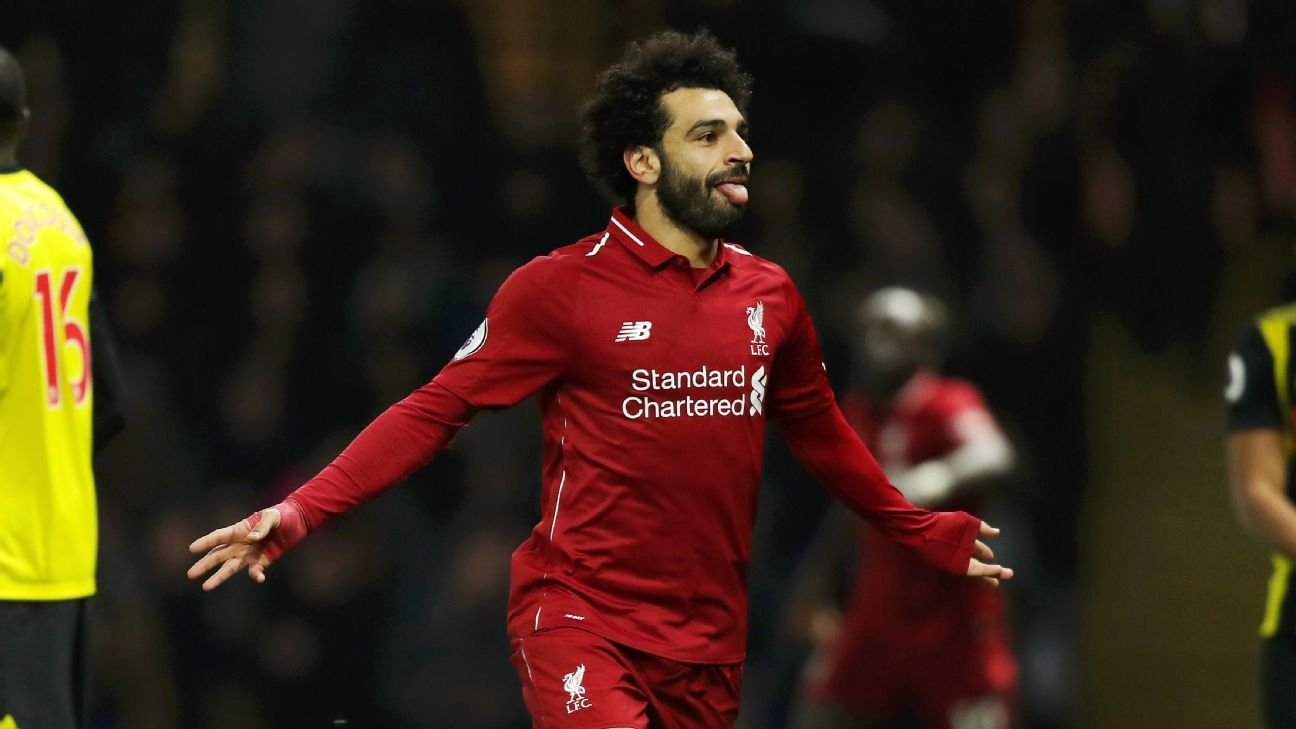 Liverpool's Mohamed Salah scored the opening goal at Watford