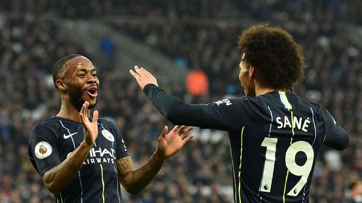 Raheem Sterling and Leroy Sane were both flying against West Ham on Saturday.