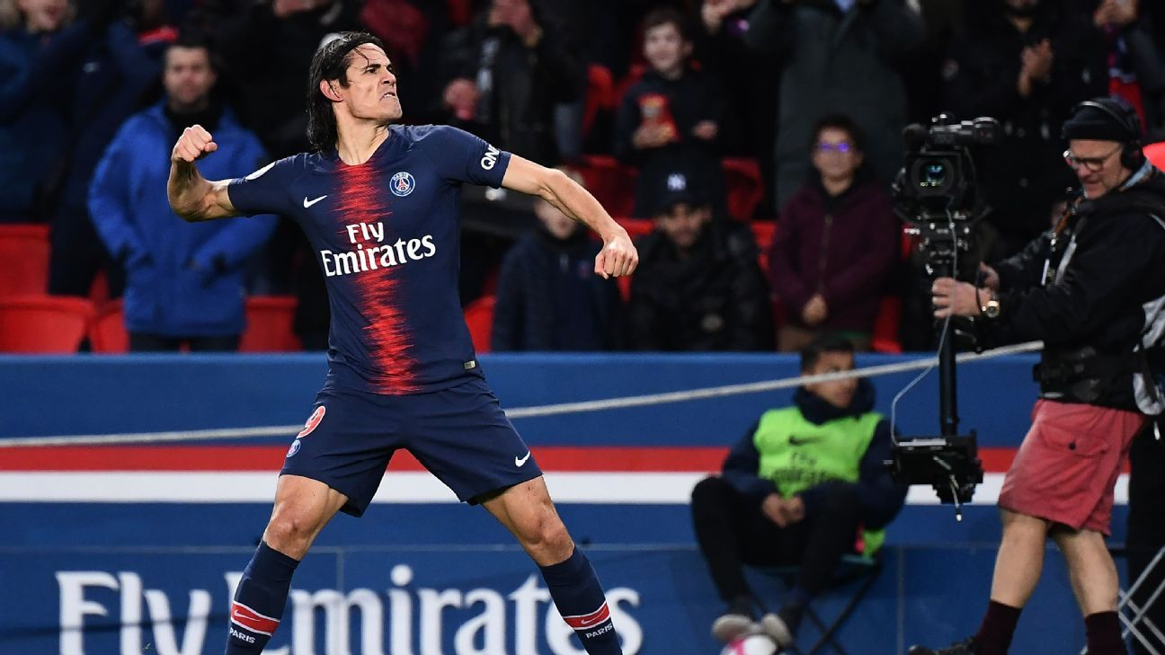Edinson Cavani's goal gave him four in two games ahead of PSG's crunch clash with Liverpool.