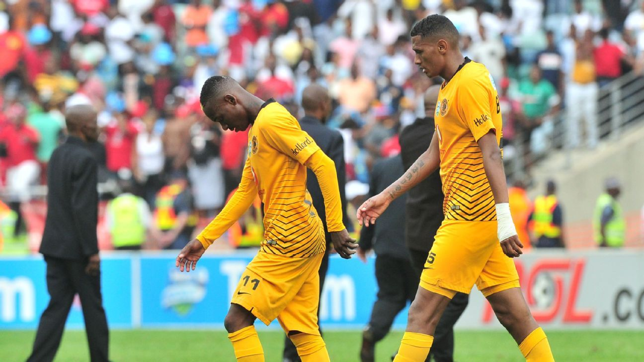 The defected Khama Billiat and Mario Booysen of Kaizer Chiefs loss to Orlando Pirates.