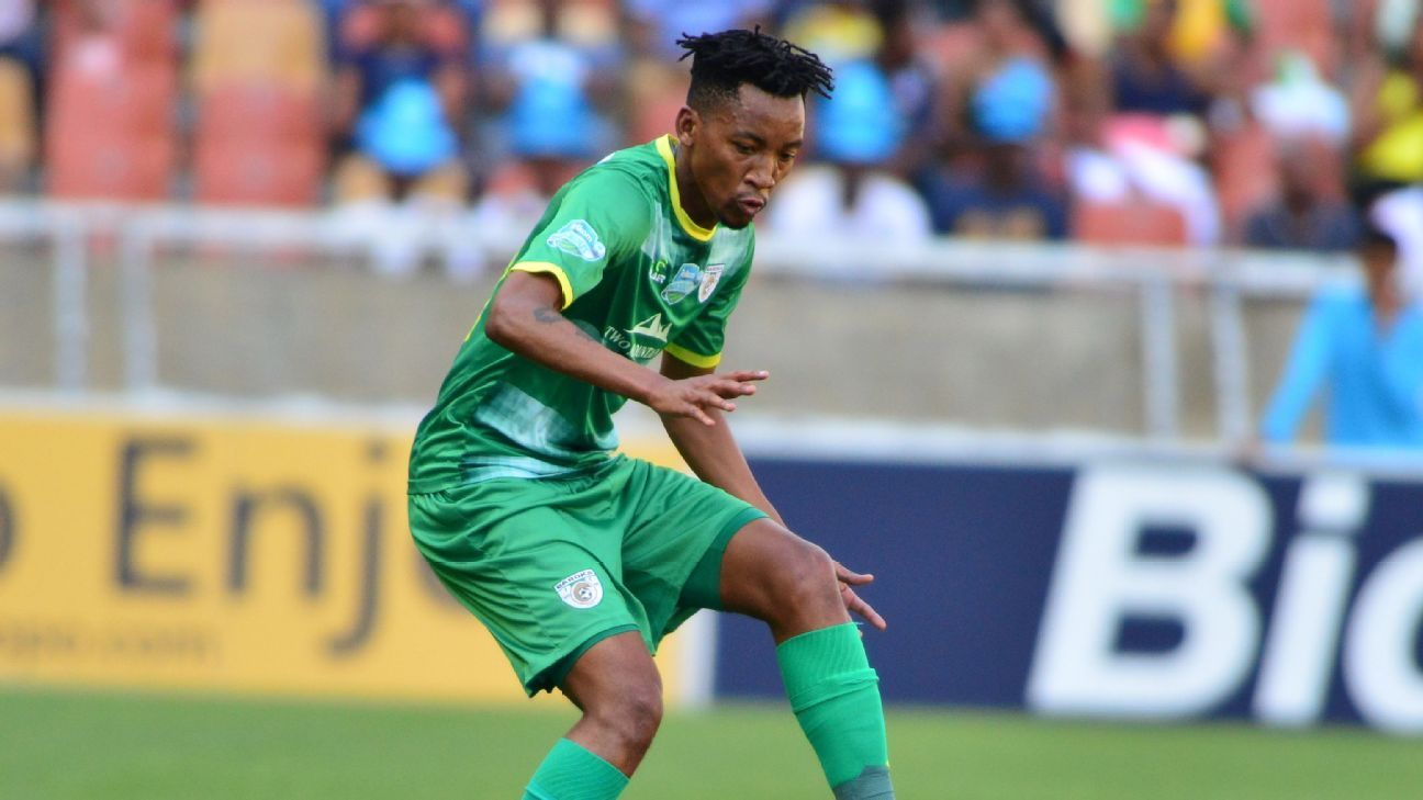 Matome Mabeba of Baroka FC in Telkom Knockout action