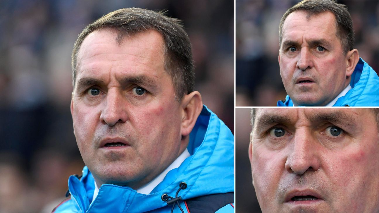 Martin Allen looks like he is struggling to comprehend the mind-bending logic behind Chesterfield's recent run of results