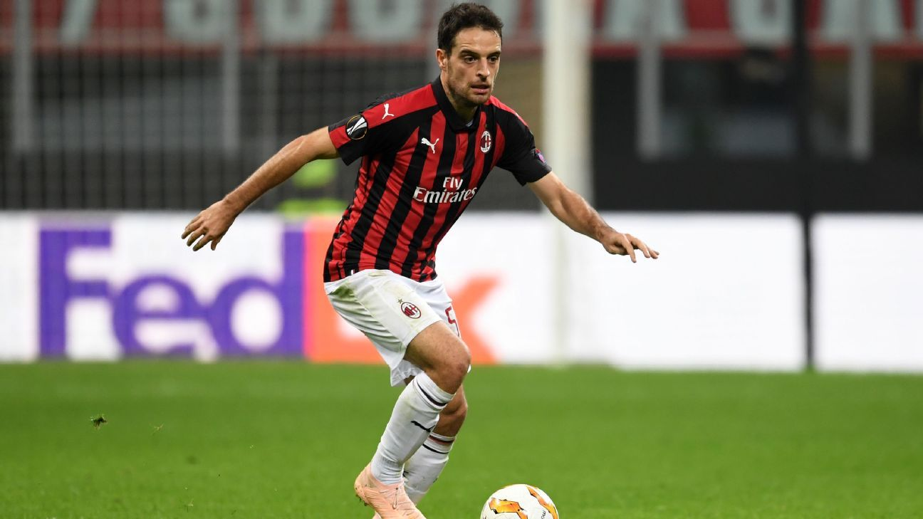 Giacomo Bonaventura for AC Milan during the Europa League clash with Real Betis