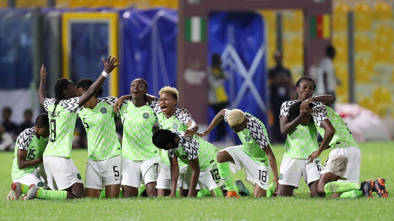 Nigeria's Super Falcons celebrate progress in the Africa Women Cup of Nations