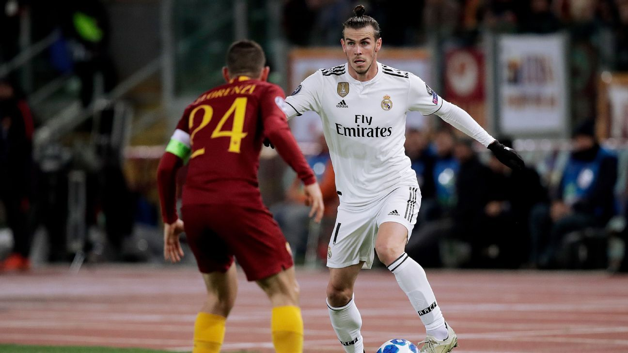 Gareth Bale in action for Real Madrid during the Champions League clash with Roma