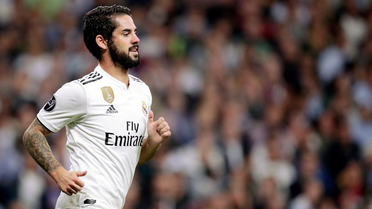 Isco has struggled for playing time at Real Madrid since Santi Solari's arrival as coach.
