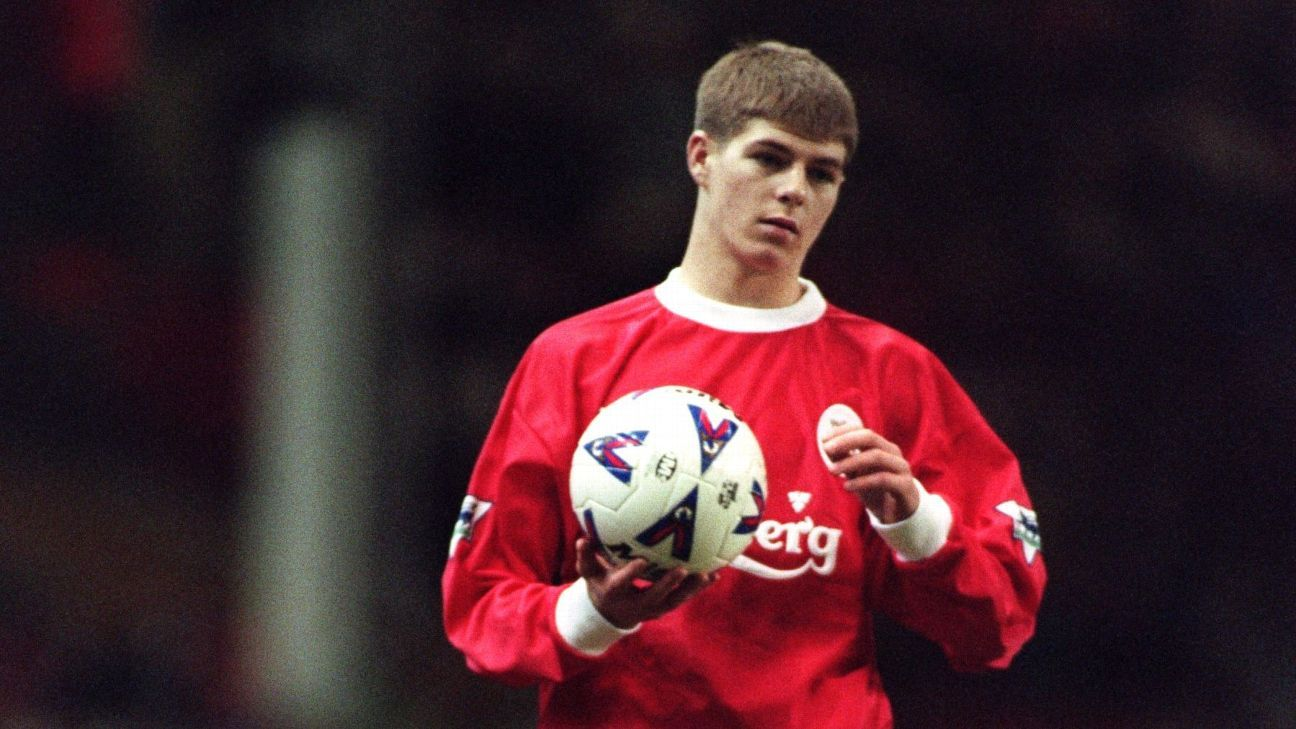 Gerrard's debut for Liverpool, at the end of a comfortable win over Blackburn on Nov. 29 1998, was the start of a spectacular career.