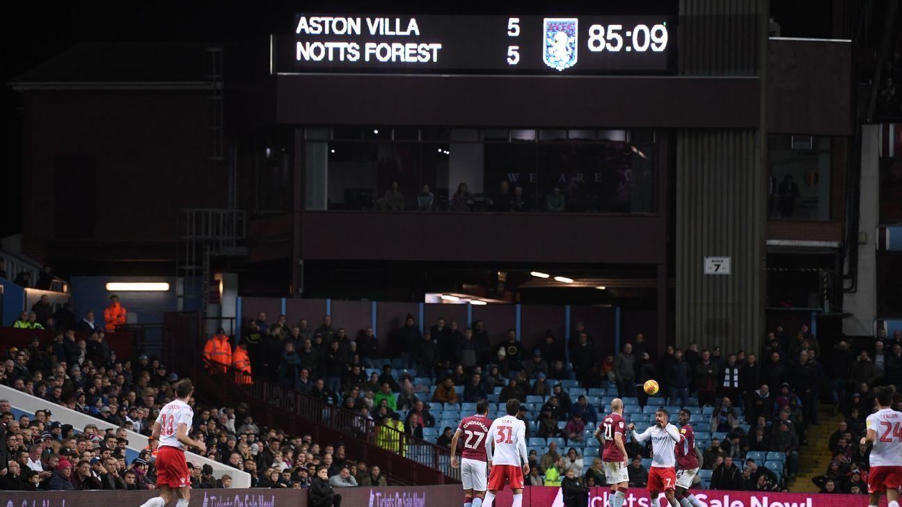 Aston Villa and Nottingham Forest