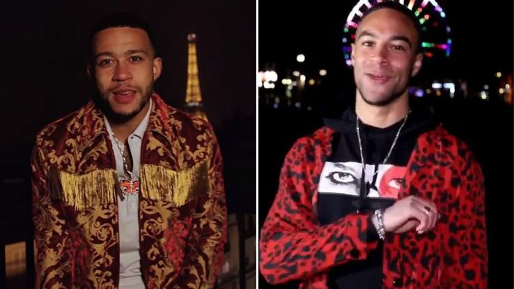 Memphis Depay's self-made rap video was lampooned by Motherwell's Charles Dunne