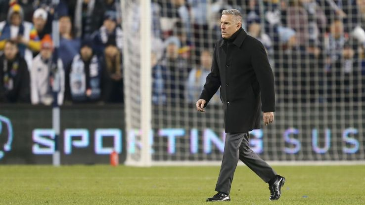 Sporting Kansas City manager Peter Vermes saw his side beaten by Portland Timbers in the MLS Western Conference Championship.