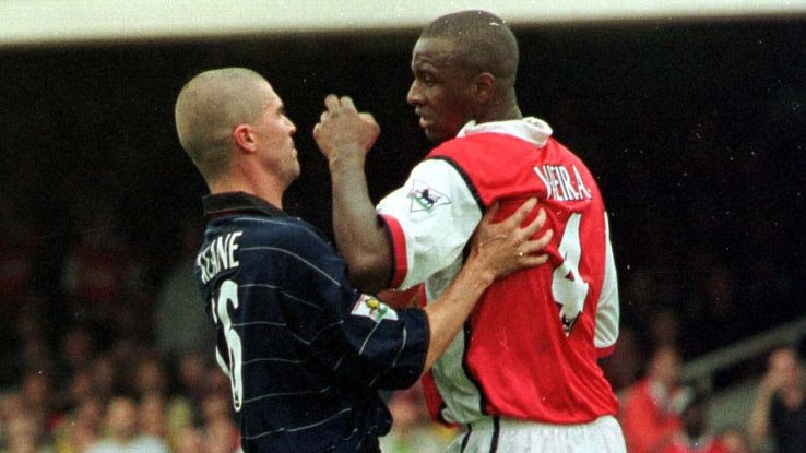 Roy Keane and Patrick Vieira's midfield battles personified the Manchester United-Arsenal rivalry at its peak
