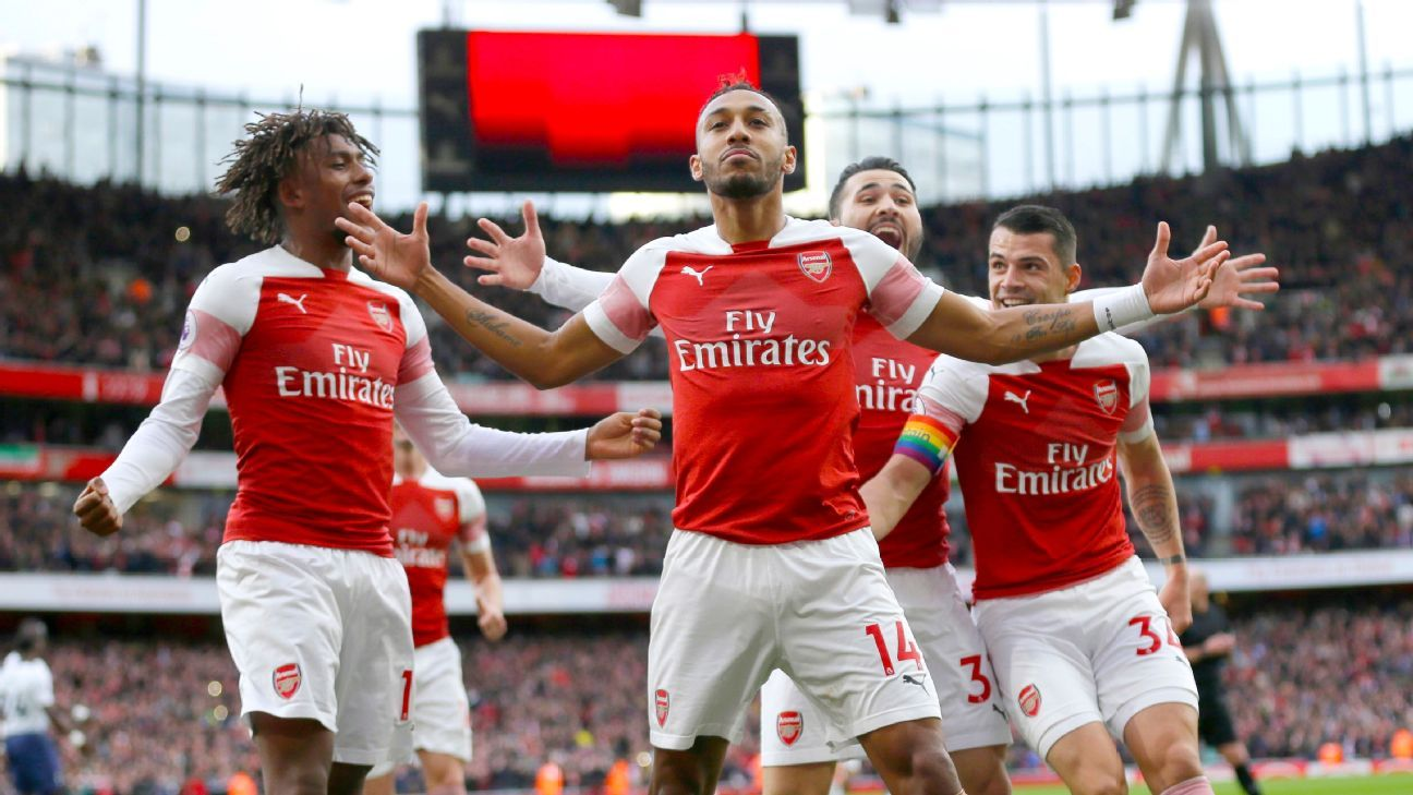 Pierre-Emerick Aubameyang and Arsenal were in a celebratory mood, as Arsenal took back North London with a resounding 4-2 win.