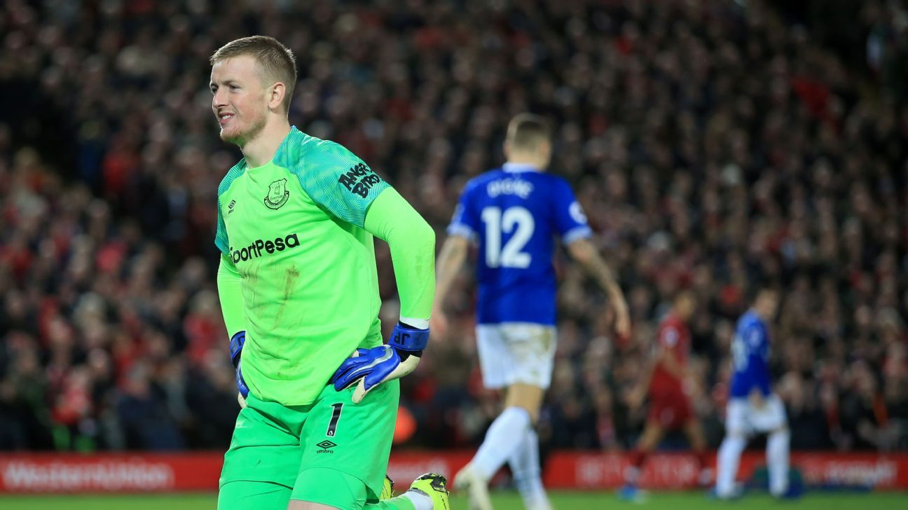 Jordan Pickford went from hero to villain after a costly mistake in the dying minutes against Liverpool.