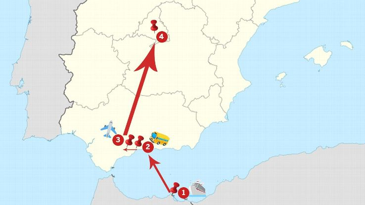 Melilla's 11-hour overnight trip to Madrid takes in journies by sea, land and air