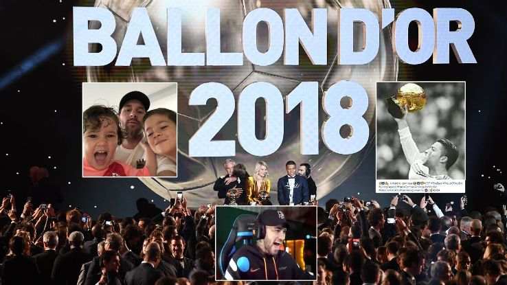 Lionel Messi, Cristiano Ronaldo and Neymar were all absent from the 2018 Ballon d'Or ceremony in Paris