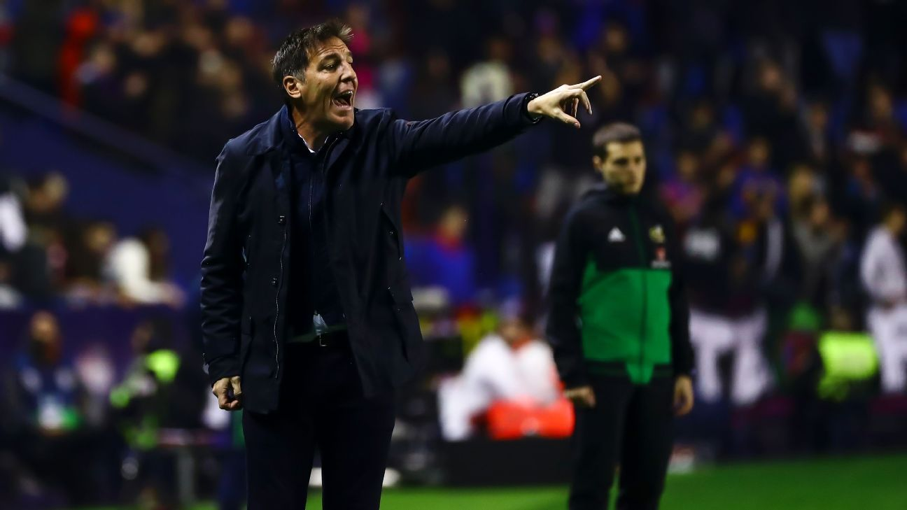 Athletic Bilbao fired manager Eduardo Berizzo with the team sitting in the relegation zone.