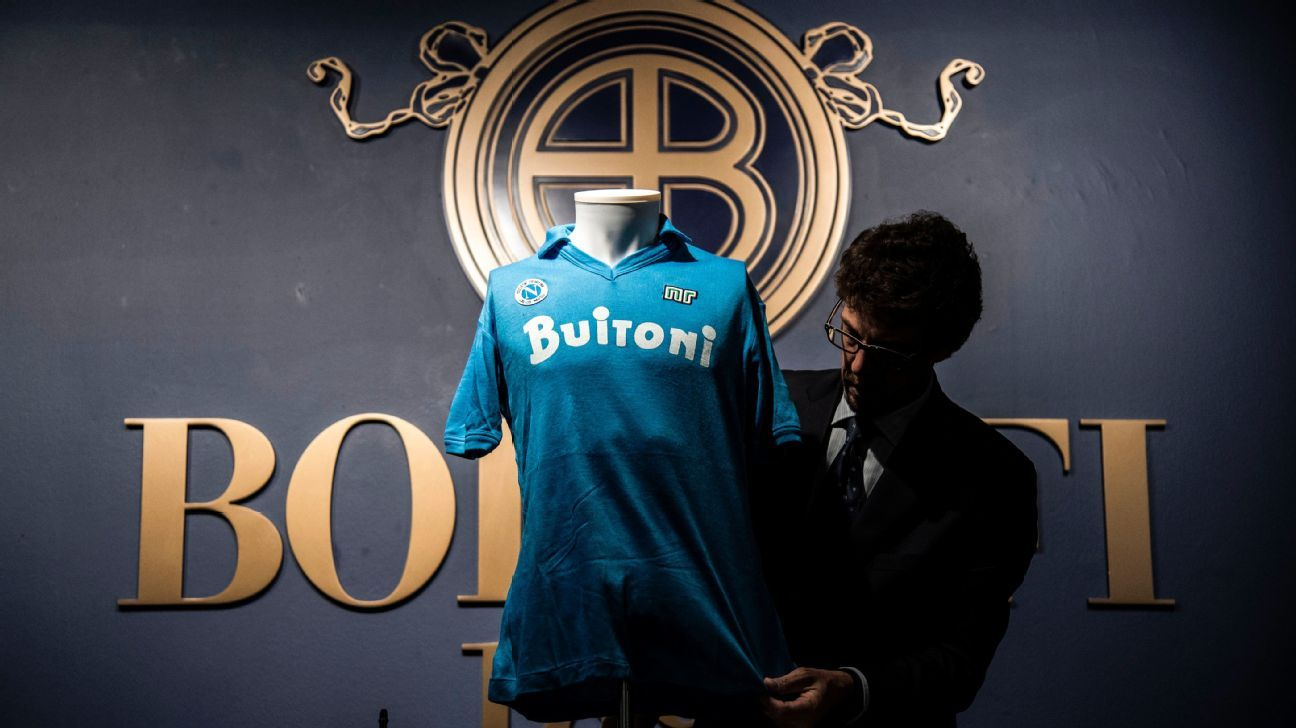 Diego Maradona 1987 Napoli shirt