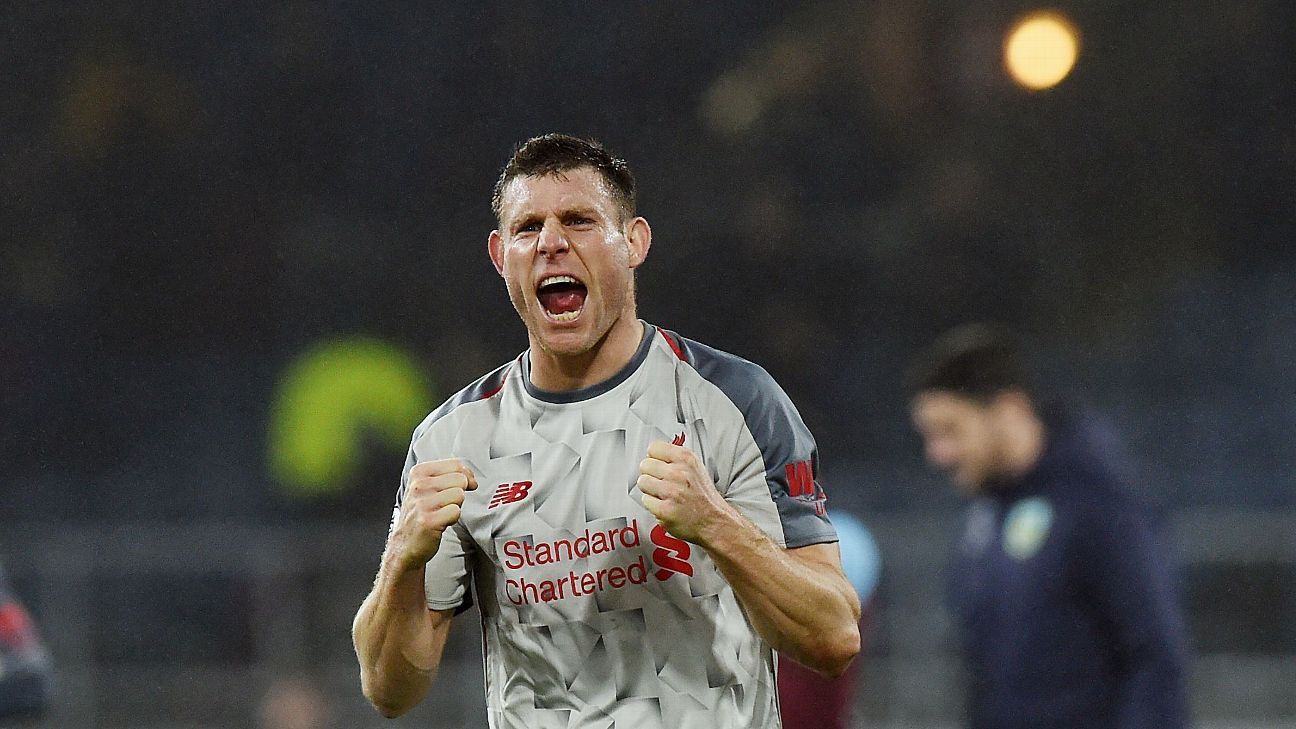 Milner's goal helped kickstart Liverpool's comeback at Burnley as Jurgen Klopp's side wrapped up an important win to keep pace with Man City.