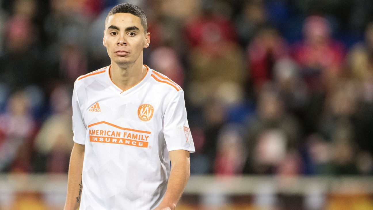 Atlanta United midfielder Miguel Almiron is attracted to the Premier League's competitiveness